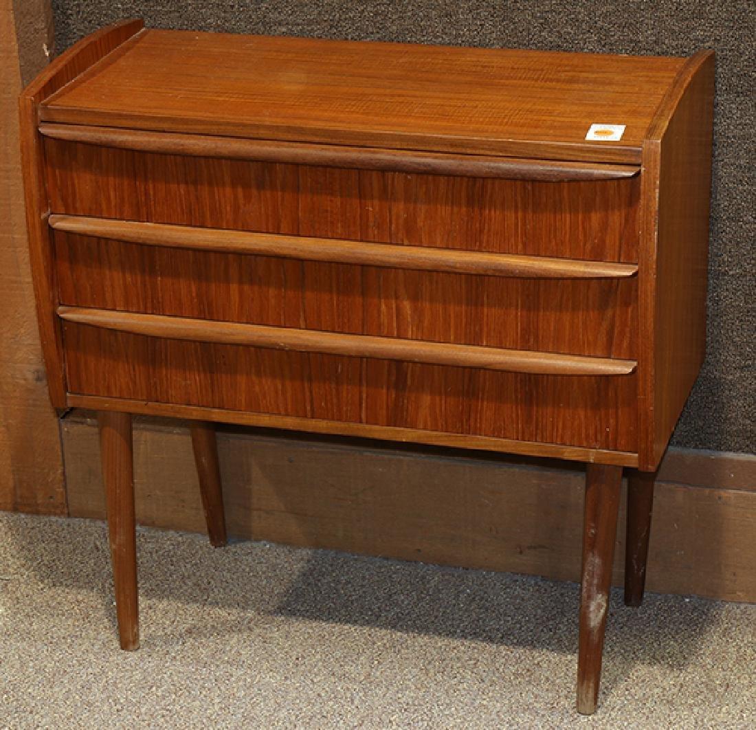 Mid-Century Modern teak console table, the rectangular