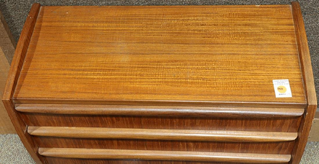Mid-Century Modern teak console table, the rectangular - 3