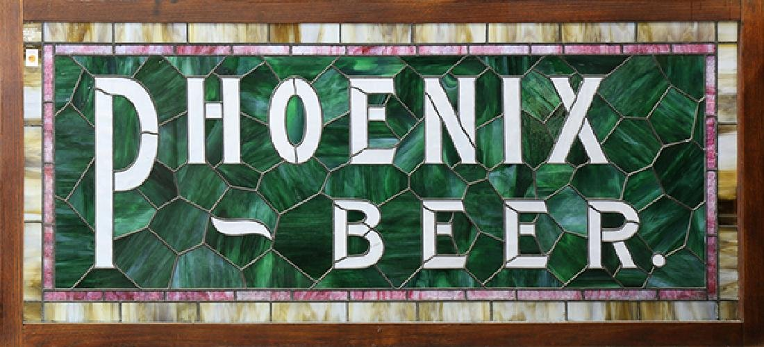 Stained Glass Phoenix beer advertising sign