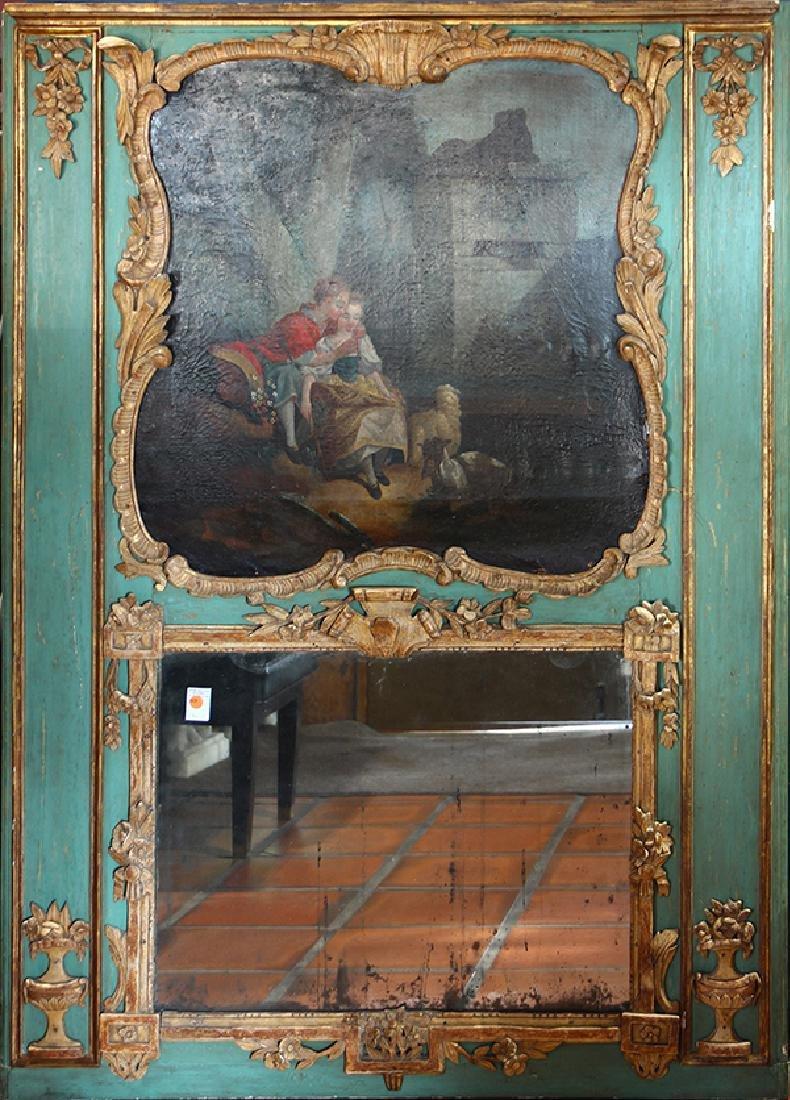 French trumeau mirror circa 1860
