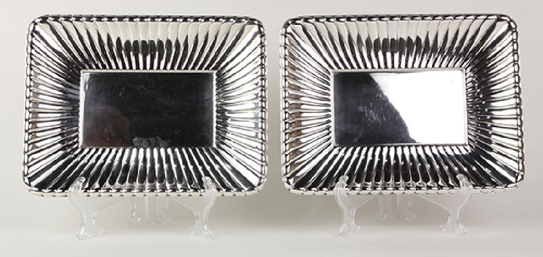 Pair of Reed and Barton sterling silver serving trays,