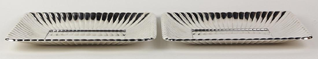 Pair of Reed and Barton sterling silver serving trays, - 2