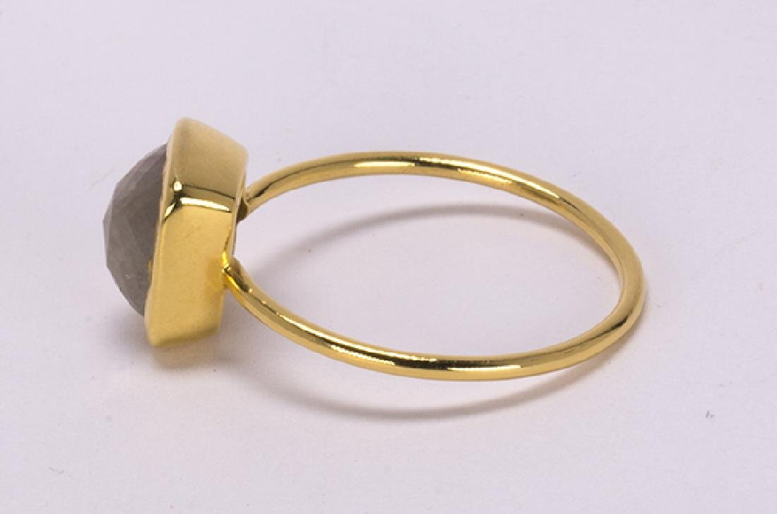 Diamond and 18k yellow gold ring - 2
