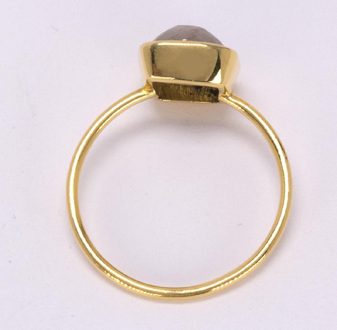 Diamond and 18k yellow gold ring - 3