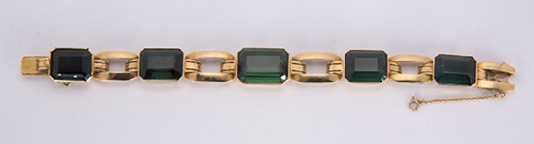 Tourmaline and 18k yellow gold jewelry suite - 2