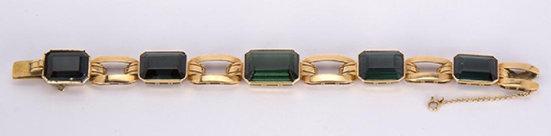 Tourmaline and 18k yellow gold jewelry suite - 3