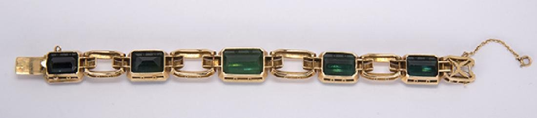 Tourmaline and 18k yellow gold jewelry suite - 4