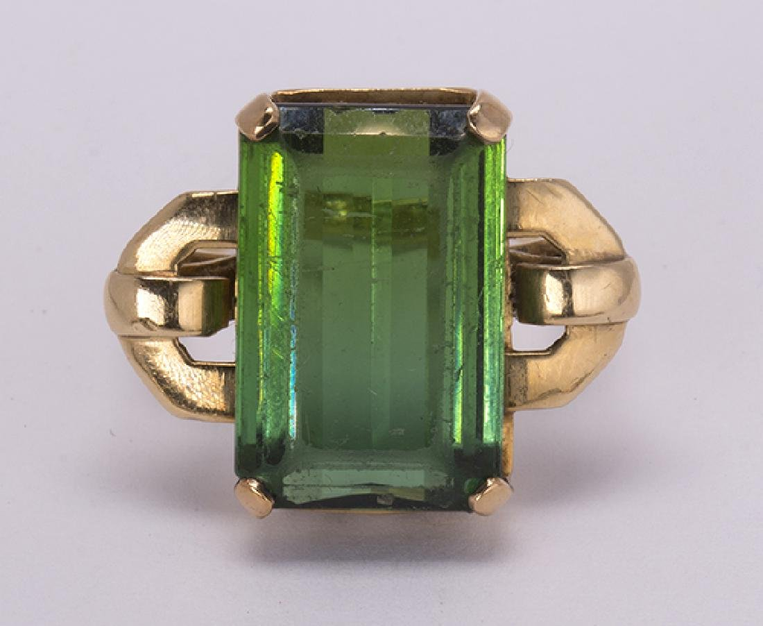 Tourmaline and 18k yellow gold jewelry suite - 5