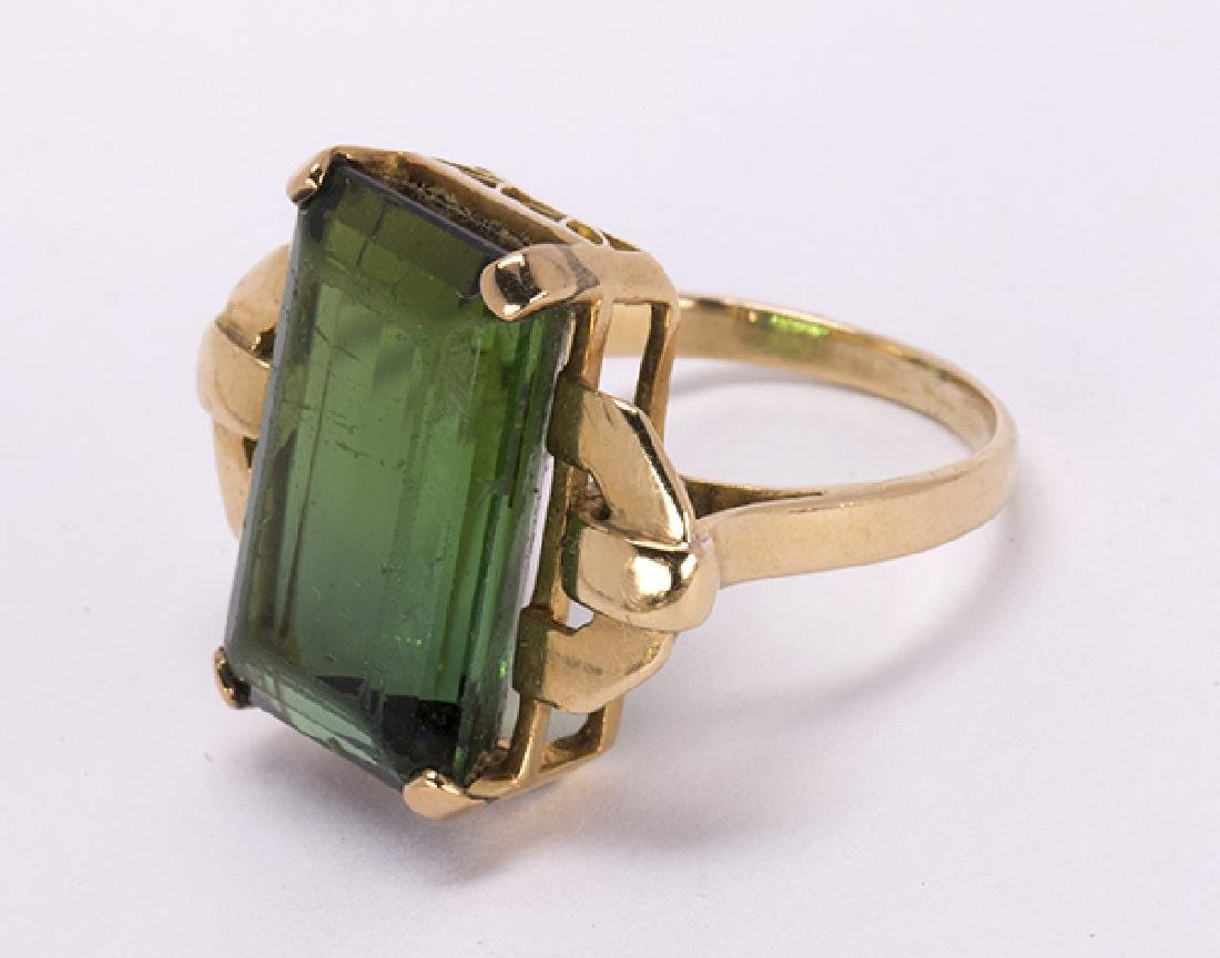 Tourmaline and 18k yellow gold jewelry suite - 6