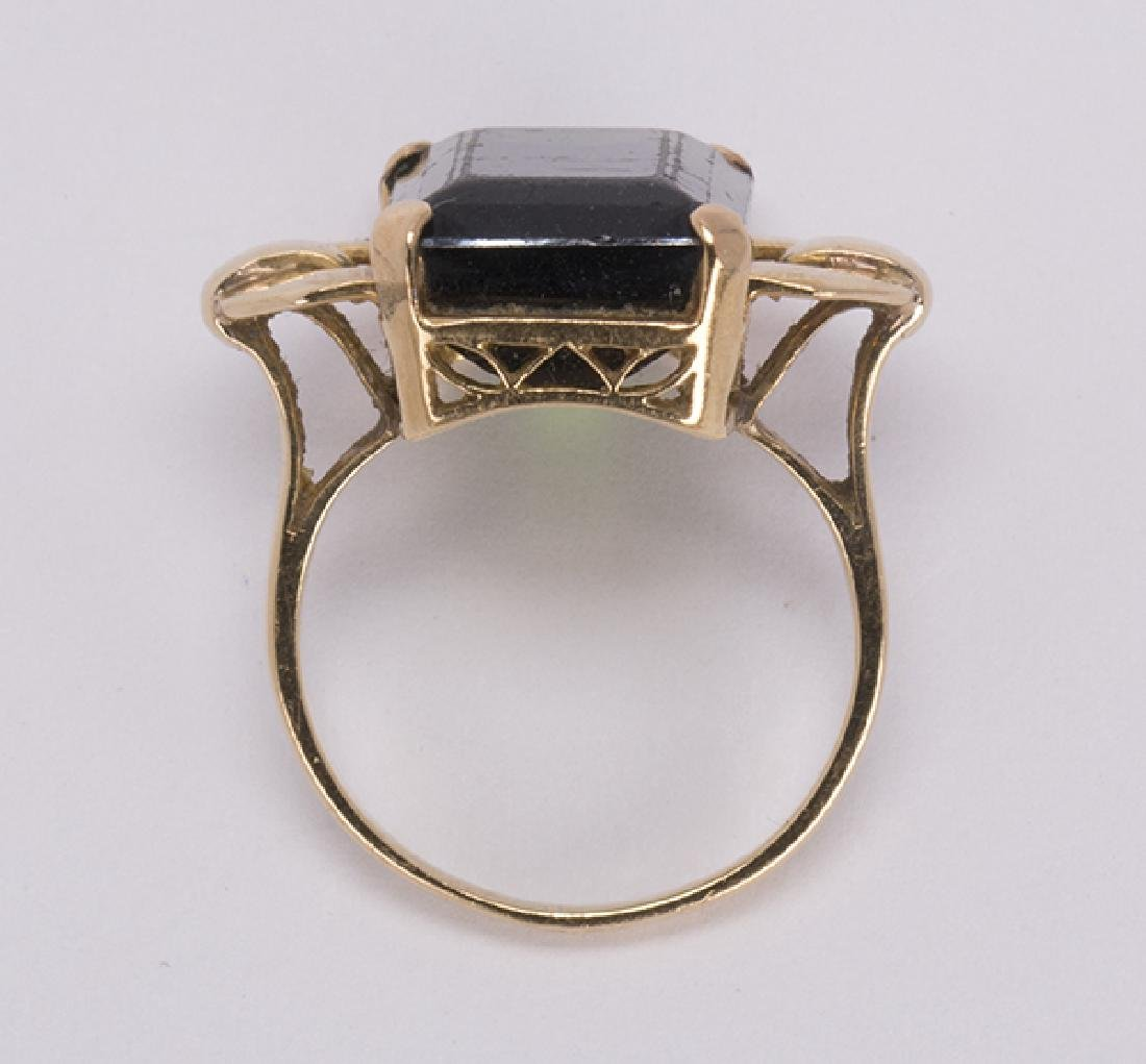 Tourmaline and 18k yellow gold jewelry suite - 7