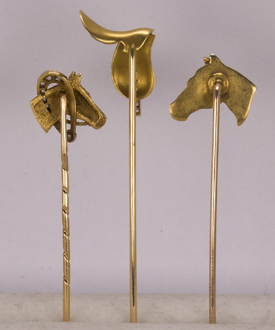 (Lot of 3) Diamond, garnet, platinum and yellow gold - 3