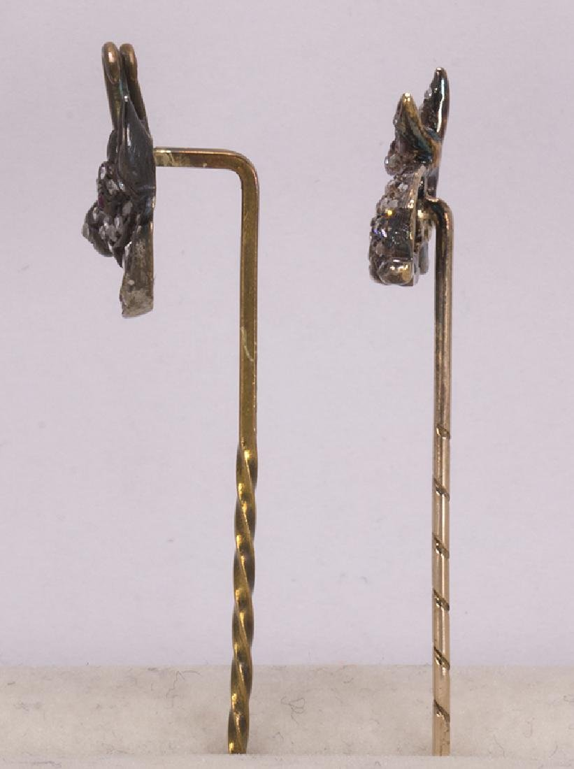 (Lot of 2) Victorian diamond, silver-topped and gold - 2