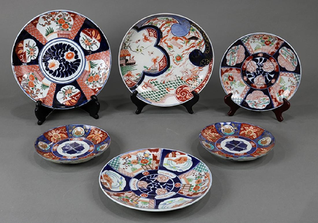 Japanese Imari Chargers and Dishes, meiji