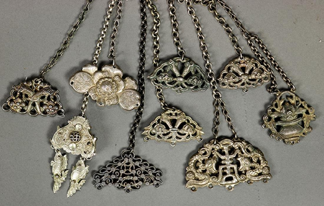 Chinese Silver Pendents