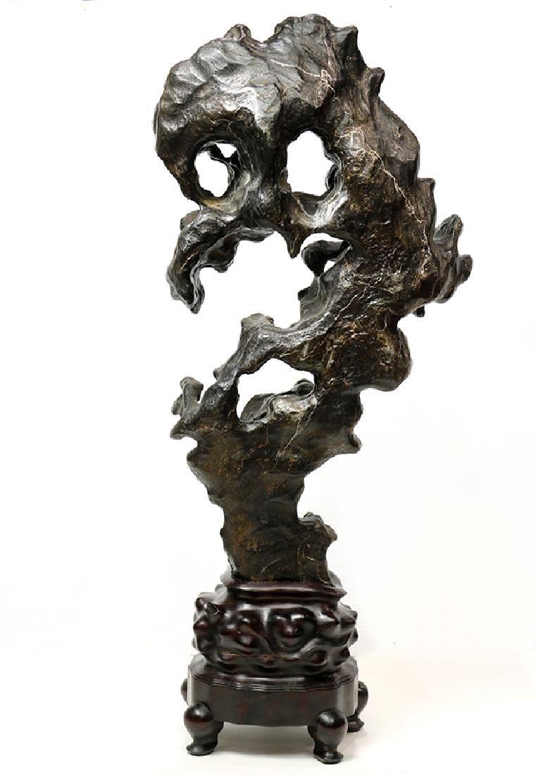 Chinese Black Scholar's Rock - 3
