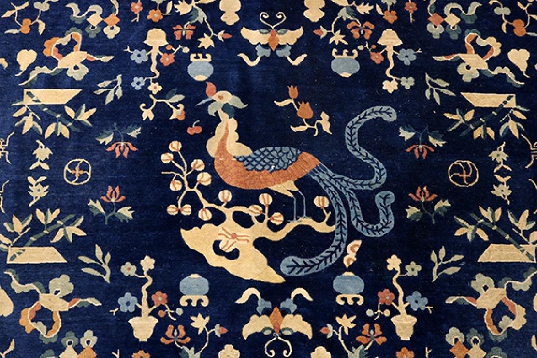 "Antique Peking carpet (wear) circa 1900, 9' x 10'7"" - 4"