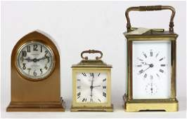 (lot of 3) Clock group, consisting of one carriage