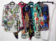 lot of 9 Etro silk clothing group  consisting of 7