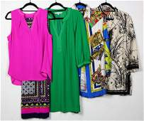 (lot of 12) Silk fashion blouses and clothing articles,