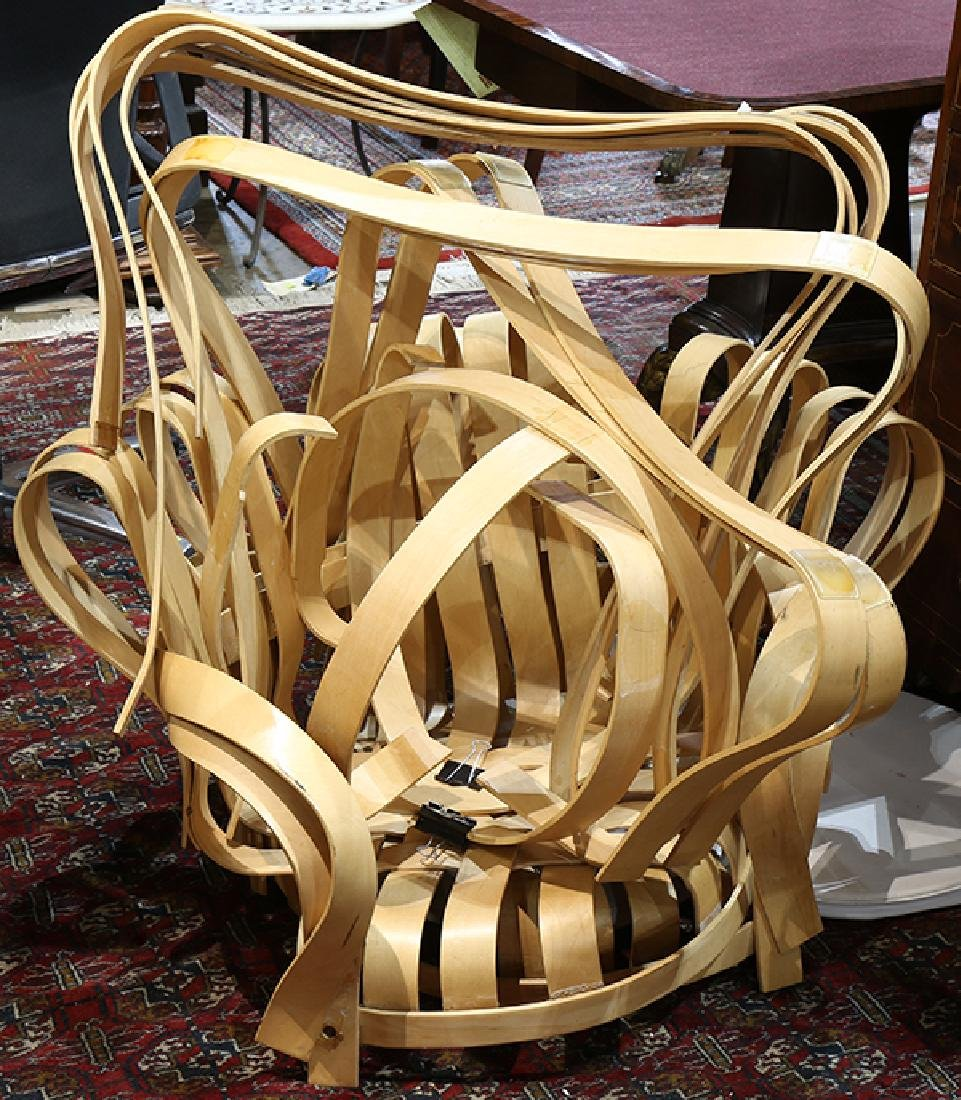 """(lot of 2) Frank Gehry for Knoll """"Crosscheck"""" bent"""