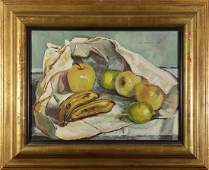 Painting, Still Life with Apples, Lemons and Bananas
