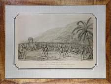 Print, John Webber, Boxing Match Before Capt. Cook