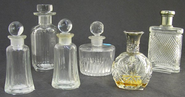 14: Scent perfume glass crystal bottles