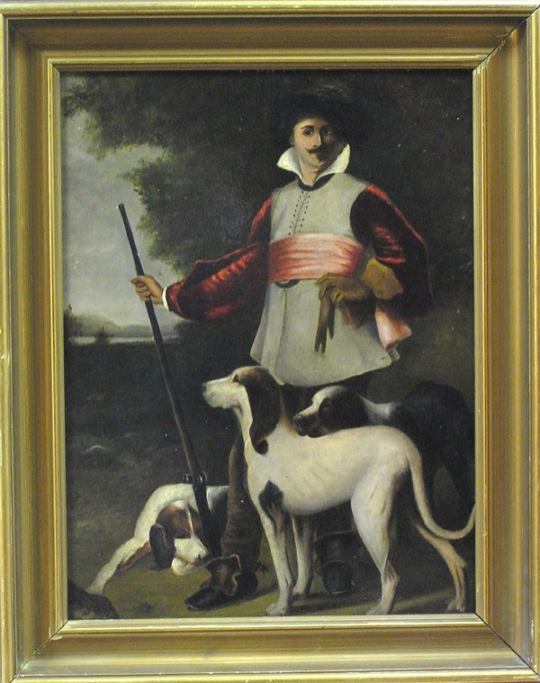 2002: Painting Portrait Hunt Dogs American