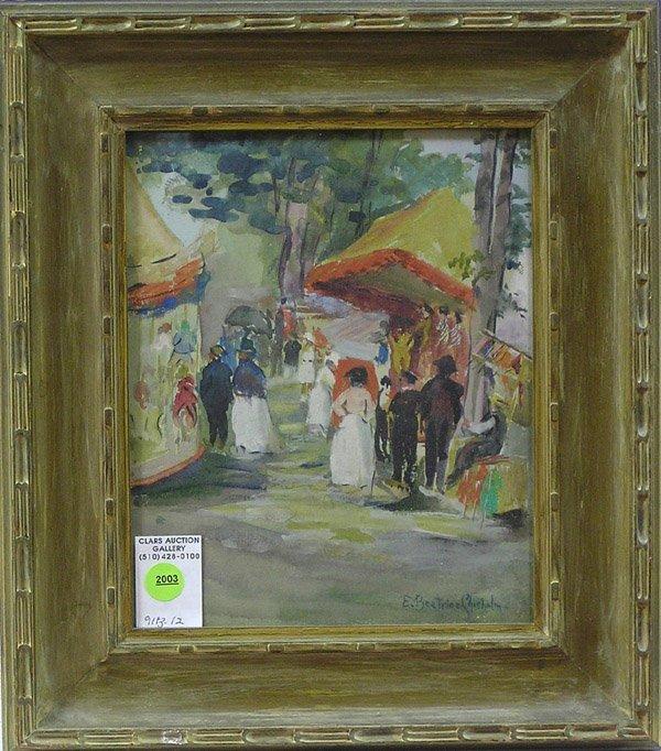 2003: Painting E. Chisholm American genre