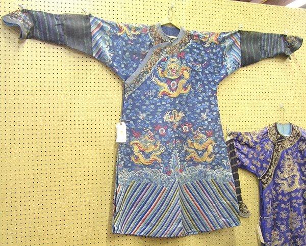 2438: Chinese Mandarin Dragon Robe, Qing