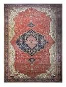 "Antique Persian Serapi palace size carpet, 14'10"" x"