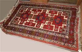 """Turkish Kars Kazak carpet, 4'6"""" x 6'8"""""""