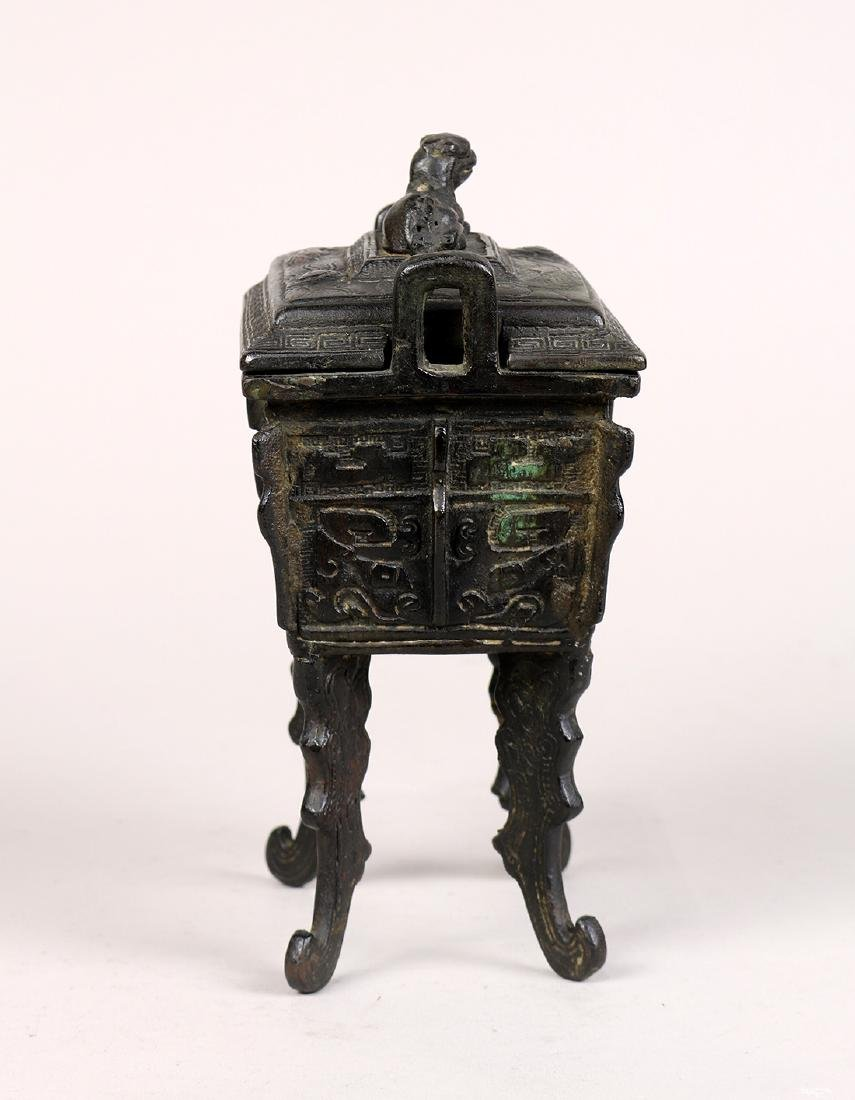 Chinese Archaistic Bronze Ding - 5