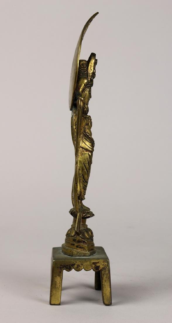 Chinese Tang-style Bronze Buddhist Figure - 3