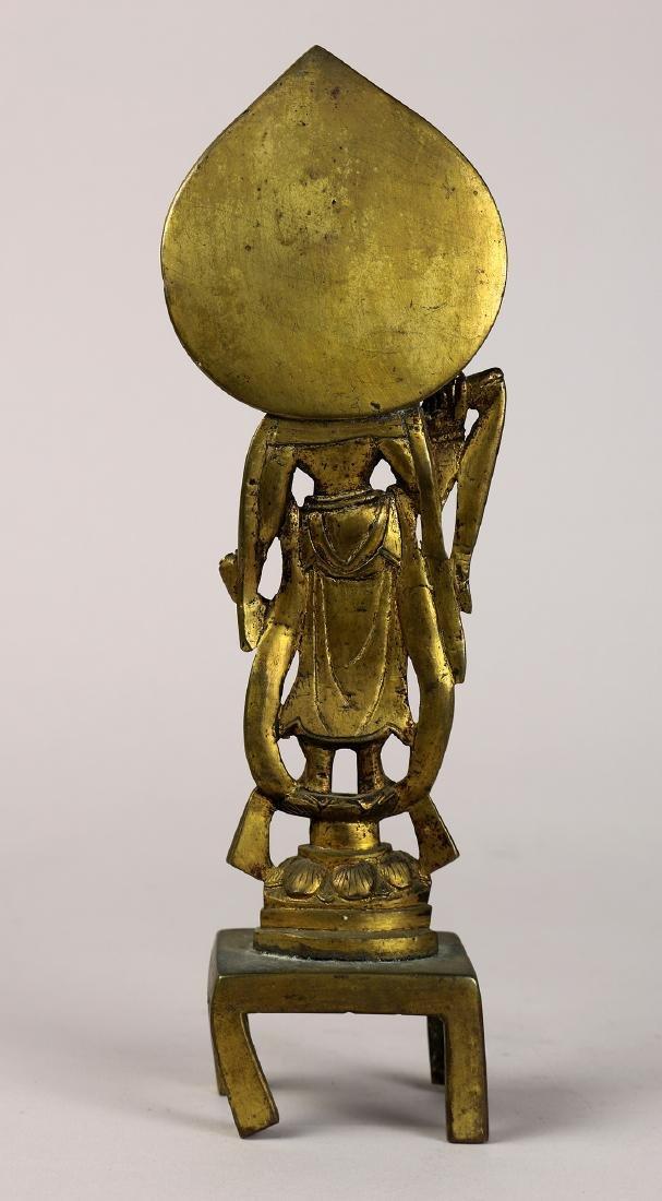 Chinese Tang-style Bronze Buddhist Figure - 4