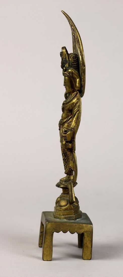 Chinese Tang-style Bronze Buddhist Figure - 5