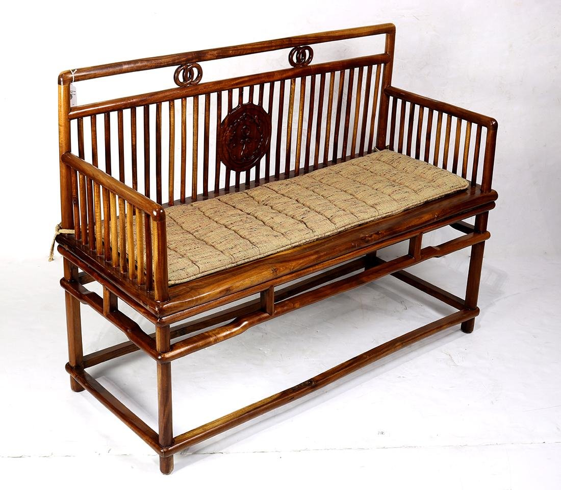 Chinese Wood Settee