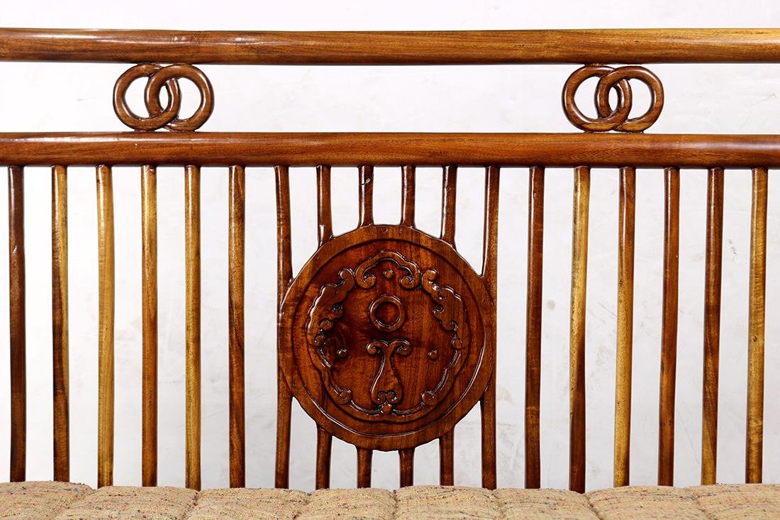 Chinese Wood Settee - 3