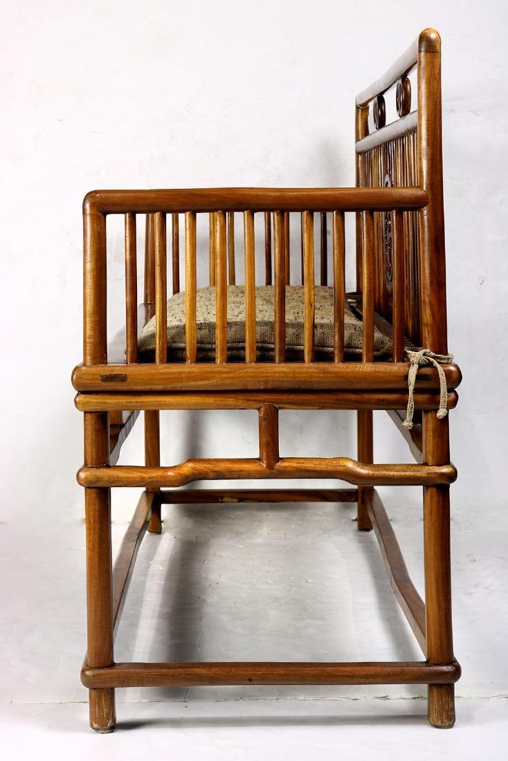 Chinese Wood Settee - 4