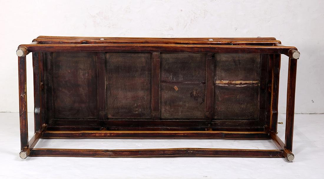 Chinese Wood Settee - 6