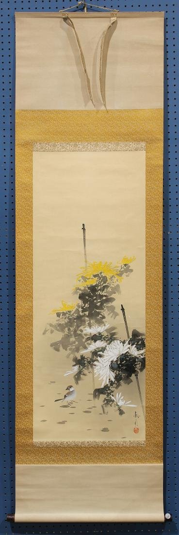 Japanese  Painting on Hanging Scroll, Ide Gakusui