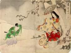 Japanese Woodblock Print 19c