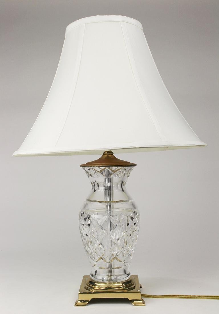Waterford crystal table lamp, the vase form lamp