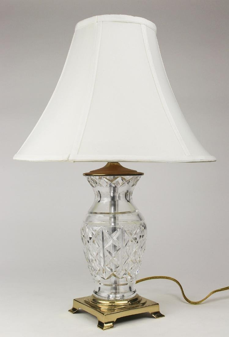 Waterford crystal table lamp, the vase form lamp - 2
