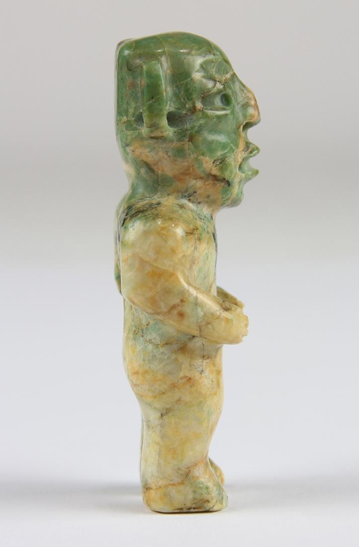 An Olmec or Olmec-style green jadeite figurine, - 2