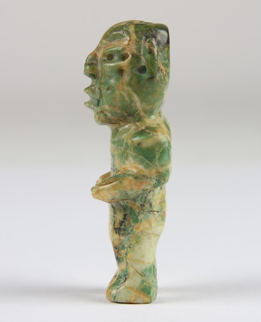 An Olmec or Olmec-style green jadeite figurine, - 4