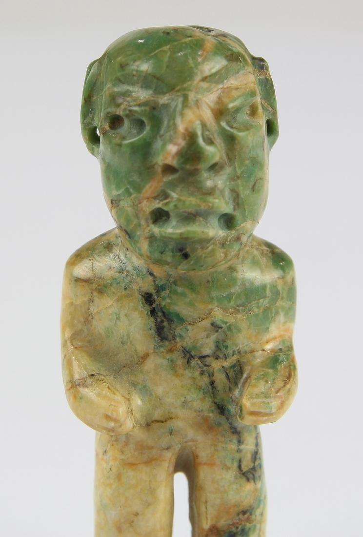 An Olmec or Olmec-style green jadeite figurine, - 5