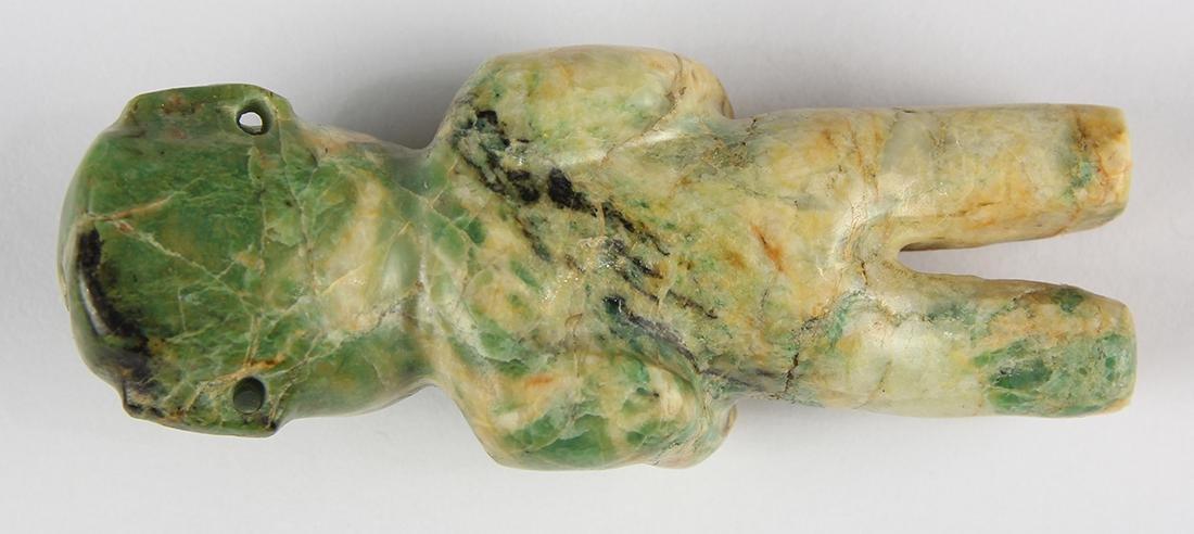 An Olmec or Olmec-style green jadeite figurine, - 9