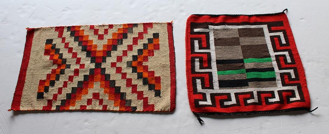 (lot of 2) Navajo woven mats