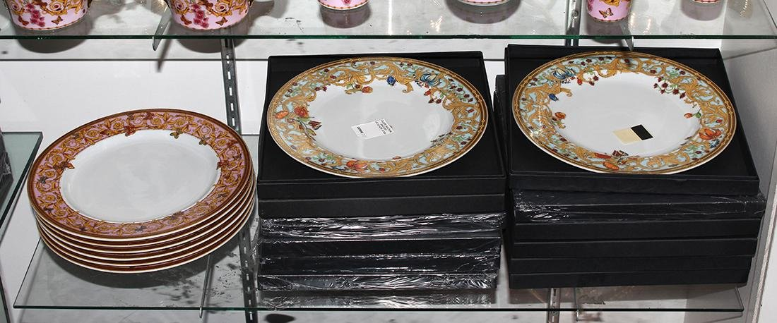 (lot of 36) Versace for Rosenthal porcelain group,